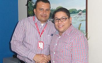 Dr. Pedro Fernández, Autoridad Única en Salud de Nueva Esparta y Jhonatan Rodríguez, Presidente de StopVIH