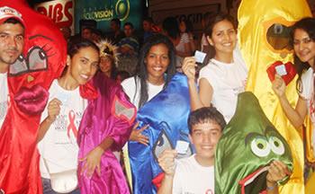 Voluntarios de StopVIH en el Operativo de Carnaval 2013
