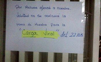 Suspendidas carga viral