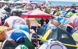 Campamento en apoyo a Cumbre MNOAL