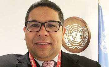 Jhonatan Rodríguez, presidente de StopVIH en la ONU
