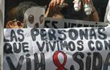 Protesta de personas con VIH en Venezuela